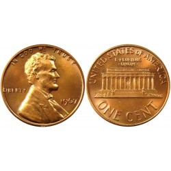 سکه 1 سنت - برنجی - آمریکا 1967غیر بانکی
