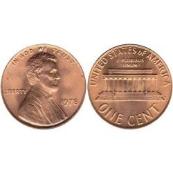 سکه 1 سنت - برنجی - آمریکا 1978غیر بانکی