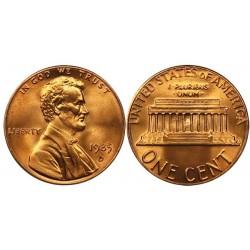 سکه 1 سنت - برنجی - آمریکا 1985غیر بانکی