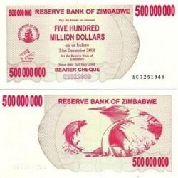 اسکناس پانصدمیلیون دلاری زیمباوه سال 2008
