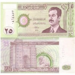 اسکناس 25 دیناری - عراق 2001 تک