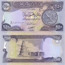 اسکناس 250 دینار عراق 2003 تک