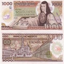 اسکناس 1000 پزو مکزیک 1985 تک