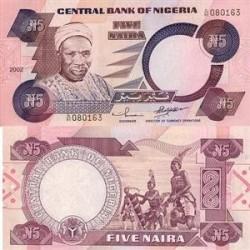 اسکناس 5 نایرا نیجریه 2005 تک