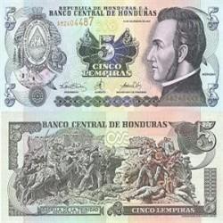 اسکناس خارجی 5 لمپیراس هوندوراس 2008 تک