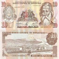 اسکناس 10 لمپیراس هندوراس 2006 تک