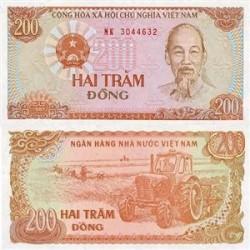 اسکناس 200 دونگ ویتنام 1987تک بانکی