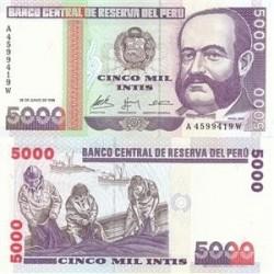 اسکناس 5000 سولس پرو 1988 تک