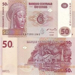 اسکناس 50 فرانک کنگو 2007 تک