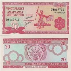 اسکناس 20 فرانک - بروندی 2007