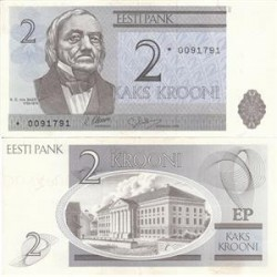 اسکناس 2 کرونی - استونی 1992 تک