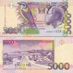 اسکناس 5000 دوبراس - سنت توماس 1996 تک