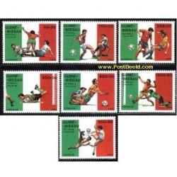 7 عدد تمبر جام جهانی ایتالیا - گینه بیسائو 1989
