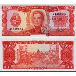 اسکناس 100 پزو - ارگوئه 1967 تک