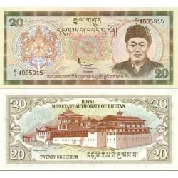 اسکناس 20 نگولتروم - بوتان 2000 تک