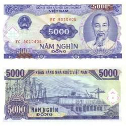 اسکناس 5000 دونگ - ویتنام 1991 تک