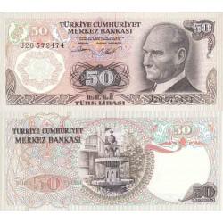 اسکناس 50 لیر - ترکیه 1970 تک