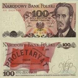 اسکناس 100 زلوتیچ لهستان 1988 تک