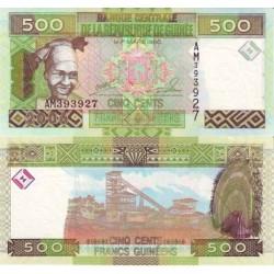 اسکناس 500 فرانک - گینه 2006