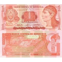 اسکناس 1 لمپیرا - هندوراس 1994 تک