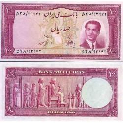 108 - اسکناس 100 ریال ابراهیم زند - محمد علی وارسته 1330 - تک