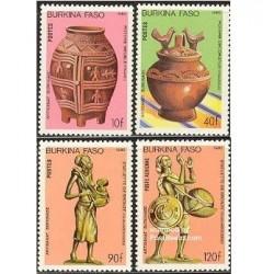 4 عدد تمبر هنر - بورکینافاسو 1985