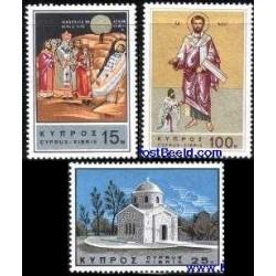 3 عدد تمبر بارناباس مقدس - قبرس 1966