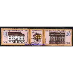 2 عدد تمبر نمایشگاه تمبر جوانان با تب - آلمان 1987