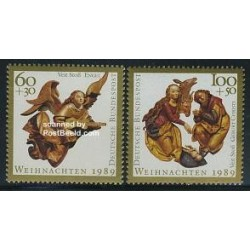 2 عدد تمبر کریستمس - آلمان 1989