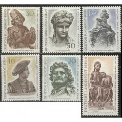 6 عدد تمبر پیکرتراشی - آلمان 1967