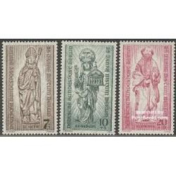 3 عدد تمبر راهبان - Bisdom Berlin - آلمان 1955