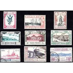 669 - تمبرهای سالگرد دهمین سال سلطنت رضا شاه - 1313 مهرخورده