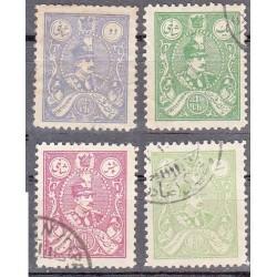 572 - تمبرهای رتوشه رضا شاه - 1307 مهرخورده
