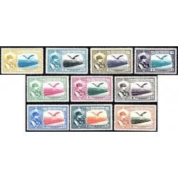 625 - 10 رقم تمبرهای پست هوائی - 14 تیر 1309