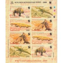مینی شیت گونه های در معرض انقراض - اژدهای کومودو - WWF - اندونزی 2000