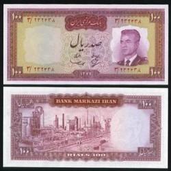 127 - اسکناس 100 ریال عبدالحسین بهنیا - مهدی سمیعی 1342 - تک