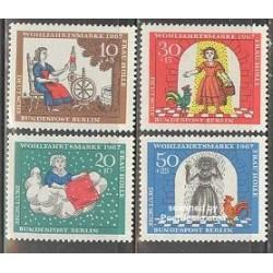 4 عدد تمبر رفاه اجتماعی - افسانه پریان - برلین آلمان 1967