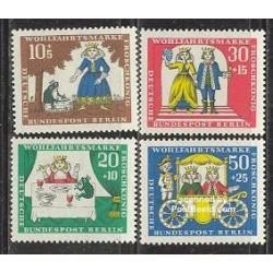 4 عدد تمبر رفاه اجتماعی - افسانه پریان - برلین آلمان 1966
