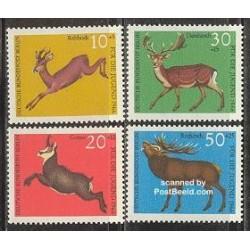 4 عدد تمبر جوانان - حیوانات - برلین آلمان 1966