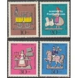 4 عدد تمبر اسباب بازیهای حلبی - برلین آلمان 1969