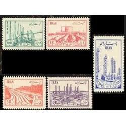 910 - 5 عدد تمبر ملی شدن صنعت نفت در ایران 1331