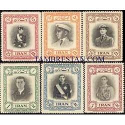 865 - 6 عدد تمبر سی و یکمین سال تولد محمد رضا پهلوی 1329