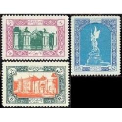 977 - 3 عدد تمبر پنجاهمین سال مشروطیت ایران 1334