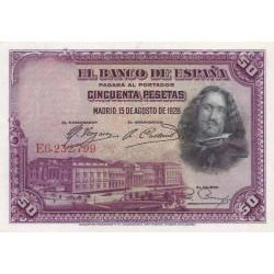 اسکناس 50 پزوتا - اسپانیا 1928 تک با کیفیت خوب