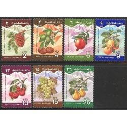 7 عدد تمبر میوه ها - روز جهانی غذا - افغانستان 1984