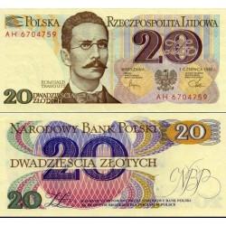 اسکناس 20 زلوتیچ - لهستان 1982