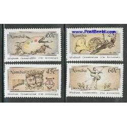 4 عدد تمبر بیابان - نامیبیا 1993