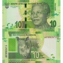 اسکناس 10 رند - تصویر نلسون ماندلا - آفریقای جنوبی 2012