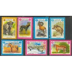 7 عدد تمبر حیوانات - افغانستان 1984