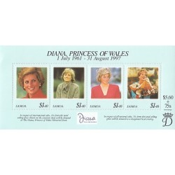 سونیرشیت یادبود مرگ دایانا - پرنسس ولز - ساموا 1998